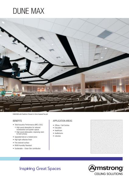 Armstrong Ceiling Solutions Dune Max brochure