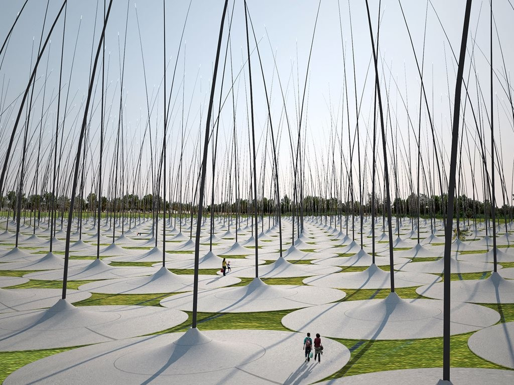 The overall purpose of LAGI is to create what is known as 'land art generators' –  works of public art that capture energy from nature and convert that energy into electricity in a sustainable manner. Image: www.landartgenerator.org