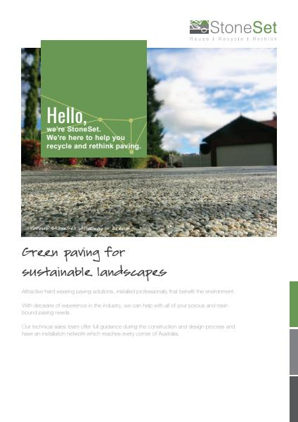 StoneSet green paving for sustainable landscapes