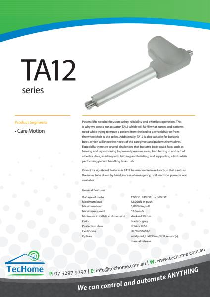 TEC FactSheet Actuators TA12