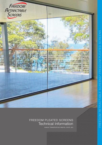Freedom Pleated Screens Specifications