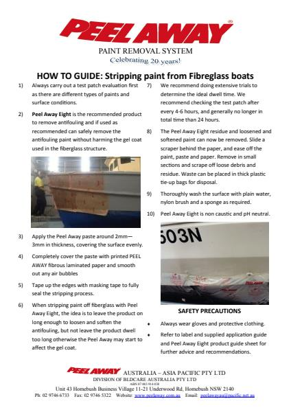 How to Guide - Stripping paint off Fibreglass boats