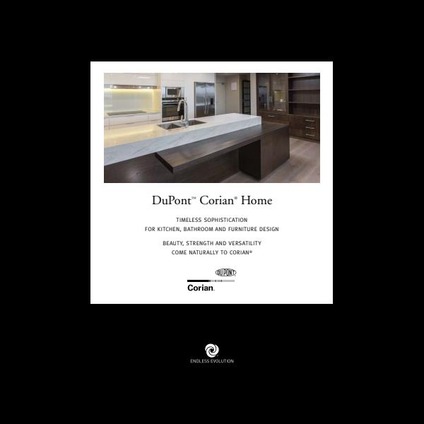 Corian for the home brochure