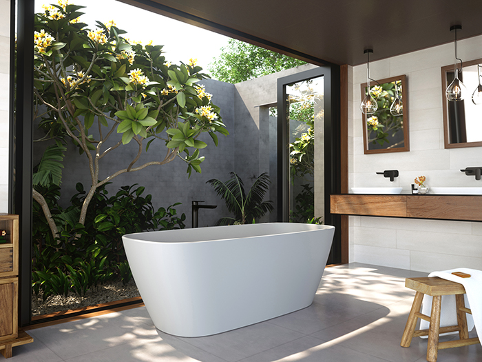 Caroma bathroom collection in residential interior
