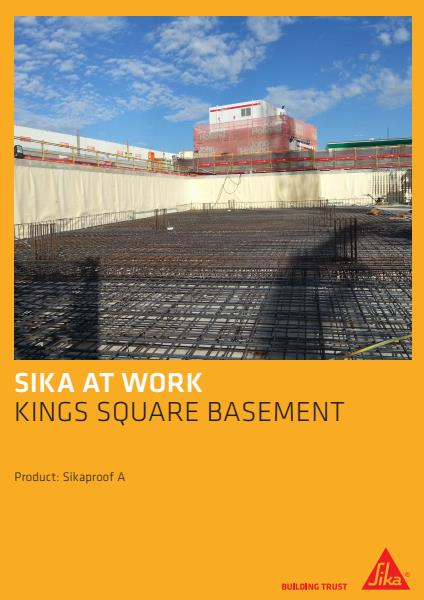 Kings Square - SikaProof A - Project Reference