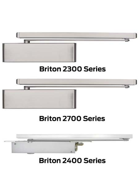 Briton 2300, 2700 and 2400 Series door closers