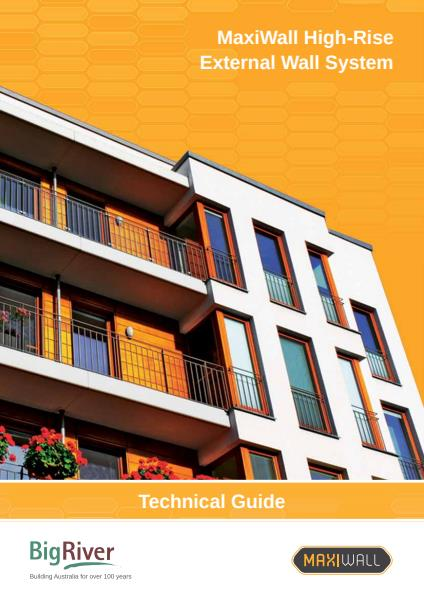 Big River Group maxiwall high rise technical guide - external