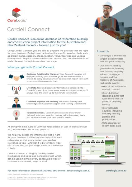 CoreLogic Cordell Connect brochure