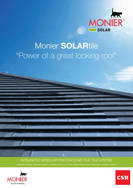 Monier SolarTile- Power of a Great Looking Roof