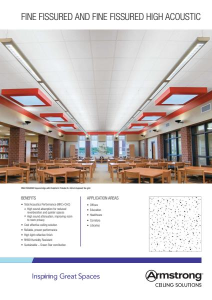 Armstrong Ceiling Solutions Fine Fissured and High Acoustic brochure