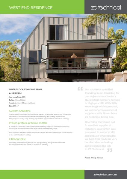 West End residential case study