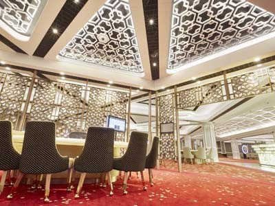 Royal Thai MegaPlank Axminster carpet planks at a casino