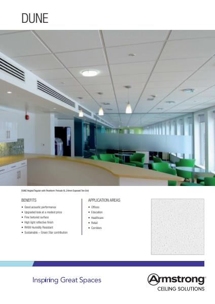 Armstrong Ceiling Solutions Dune brochure