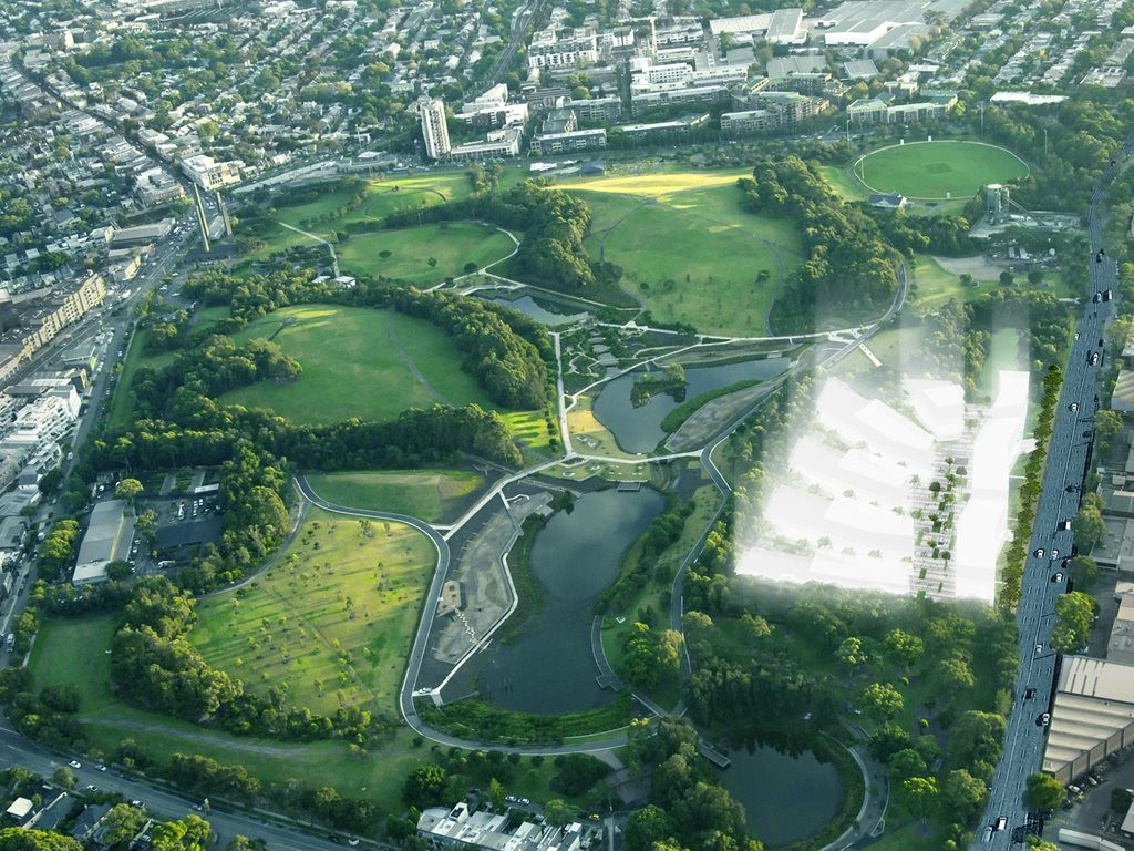 An aerial view of Sydney Park. Image: supplied
