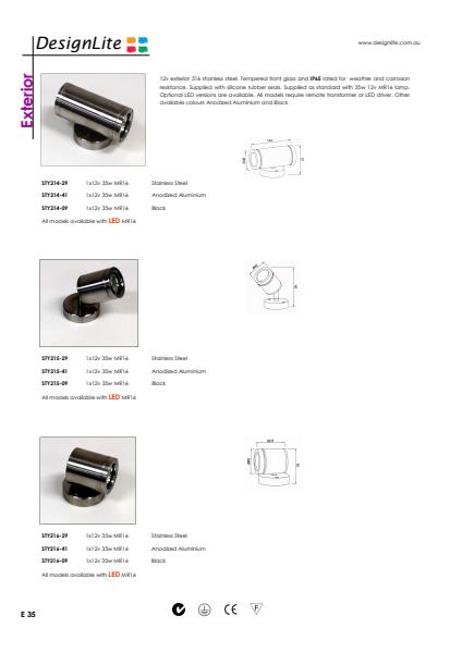 DesignLite Stainless Steel Up/Down Product Information