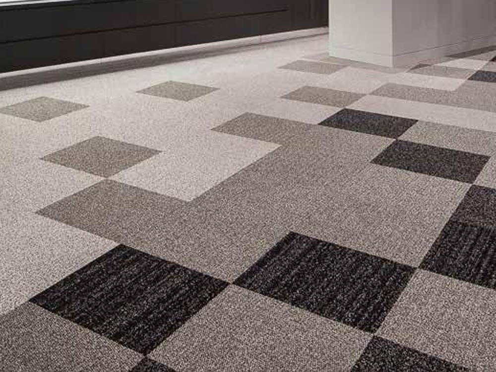 Tweed and Bouclé from the Fashion Planks collection of carpet tiles by Signature Floors