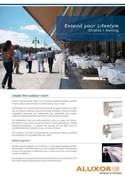 Aluxor Retractable  Awnings Components