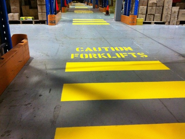 Companies can prevent potentially hazardous situations by separating pedestrians from forklifts.