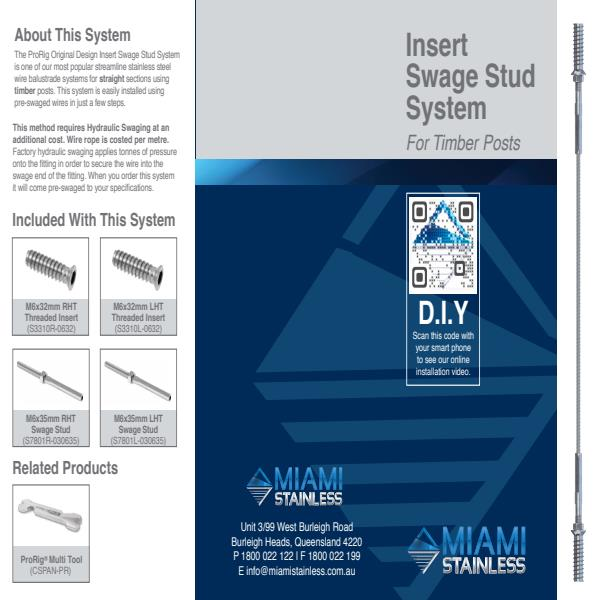 Insert swage stud system timber brochure