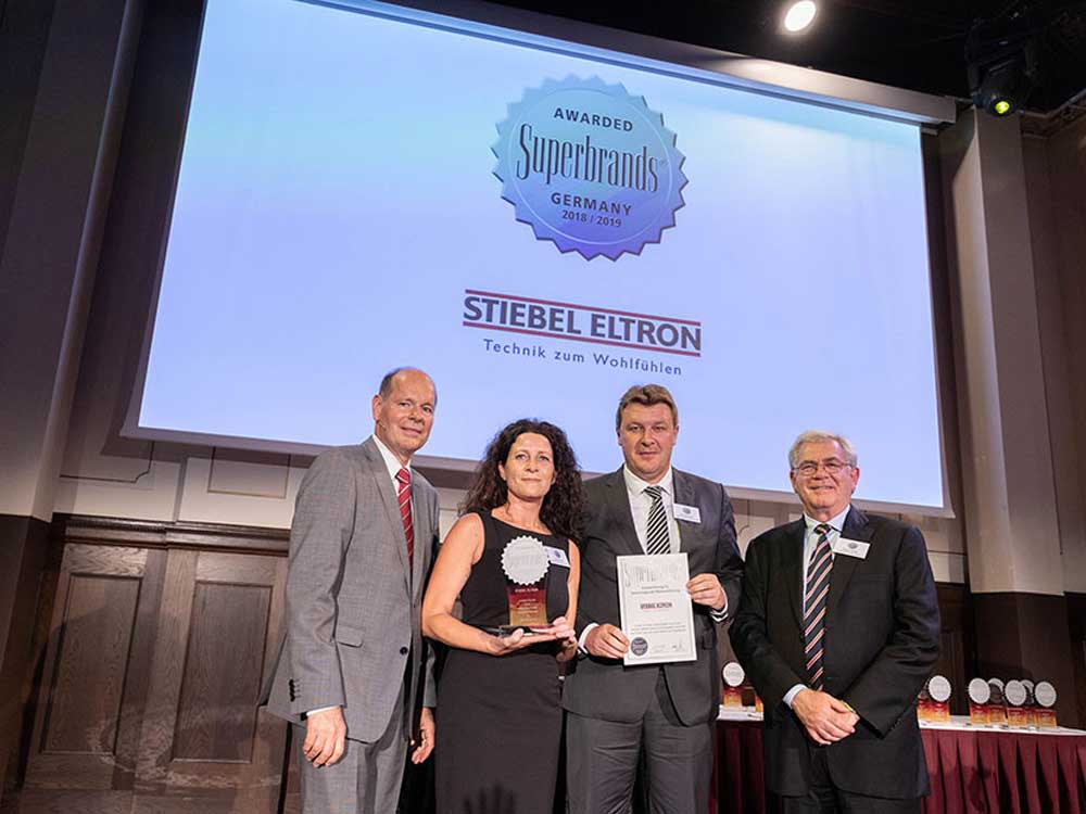 Stiebel Eltron was voted Superbrand for the sixth time in a row.