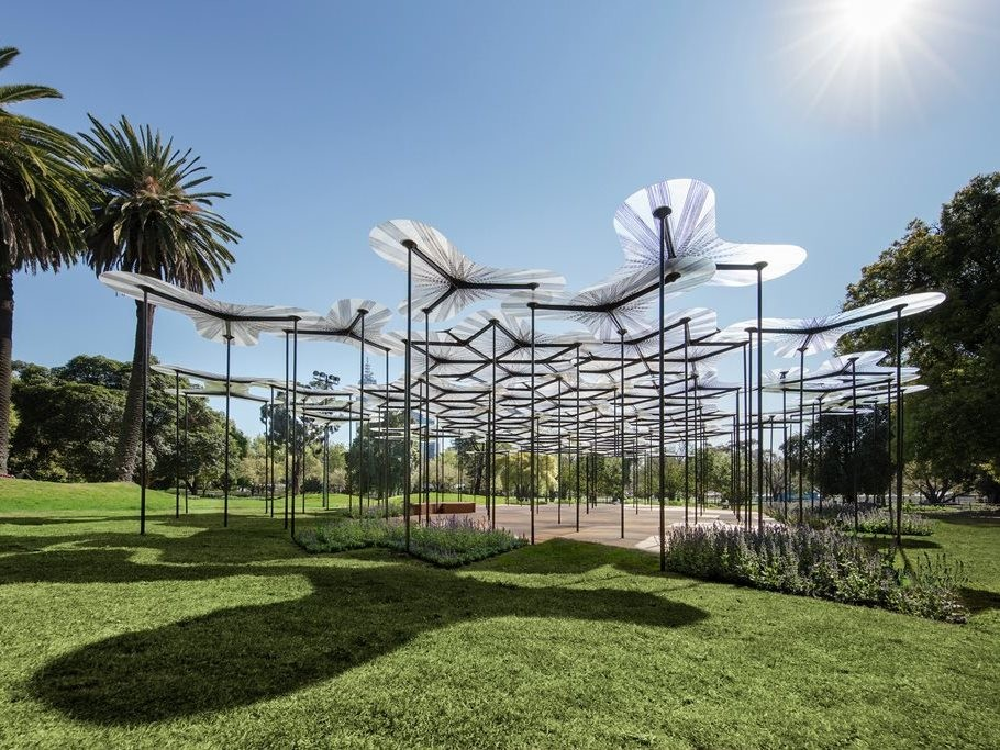 Amanda Levete's MPavilion 2015. Photography by John Gollings