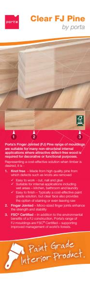 Porta Finger Jointed Pine