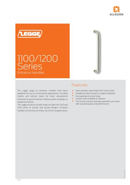 Pull Handles and Push Plates brochure