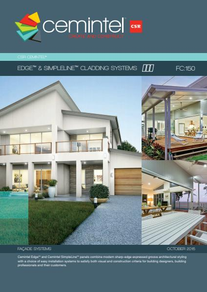Cemintel Edge and Simpleline cladding systems brochure