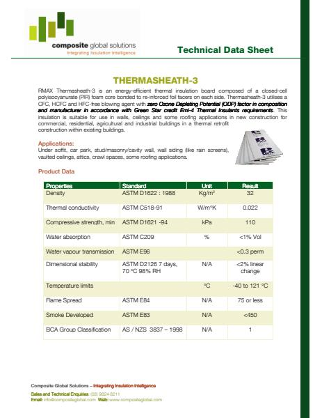 Tech Data of THERMOSHEATH- 3