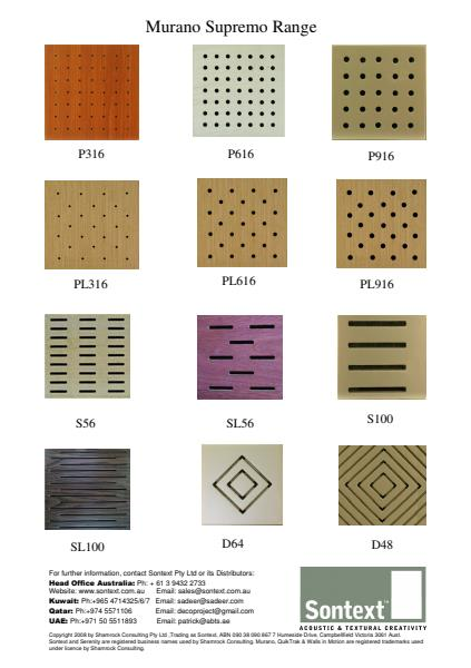 Murano Wood Acoustic Panels