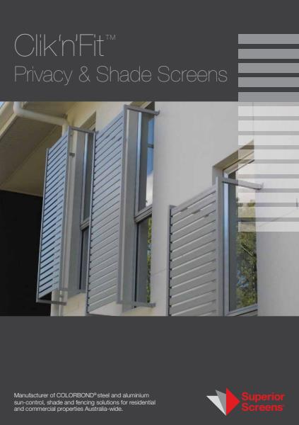 Click N Fit Privacy and Shade Screens
