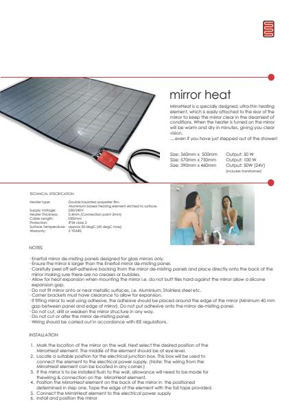 mirror technical brochure