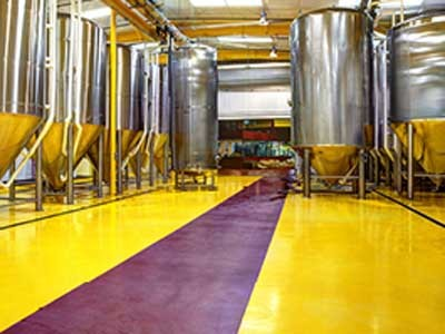 The advantages of polyurethane flooring materials within a brewery environment