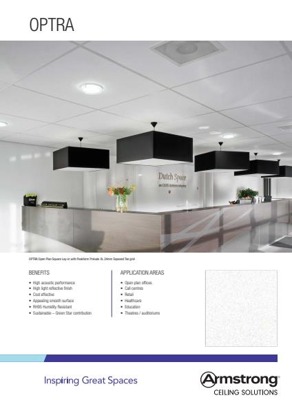 Armstrong Ceiling Solutions Optra brochure