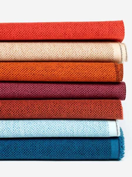 The Maharam Mode collection features vibrant colours