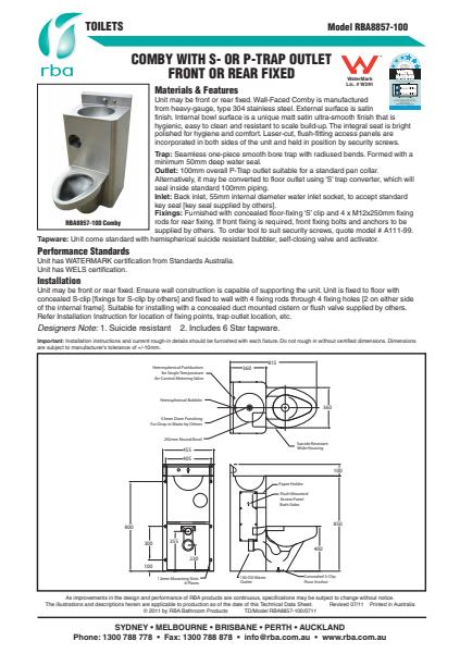 Economical Combined WC and Washbasin