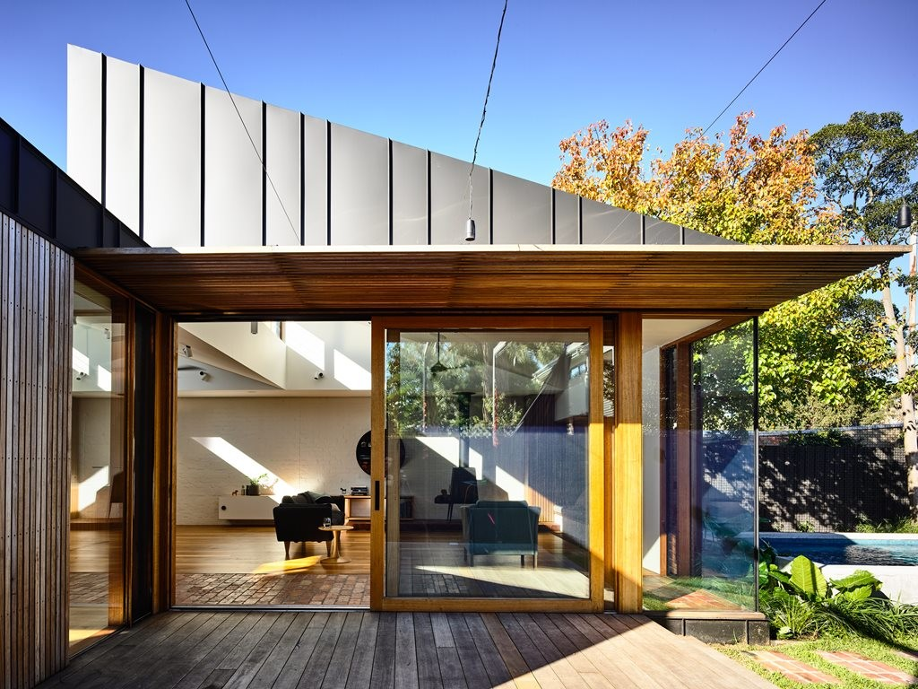 Geometric design makes a zen addition to an Edwardian home