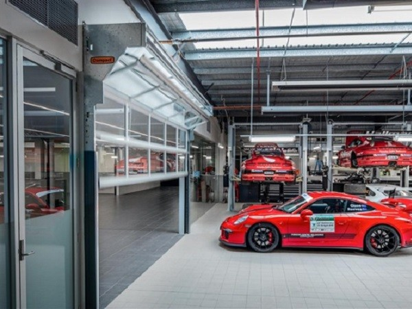 Porsche Centre Melbourne featuring Remax doors
