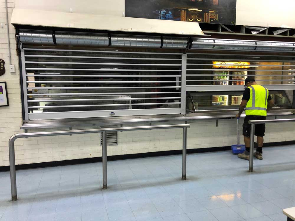 ATDC's security roller shutters at Woolworths Distribution Depot