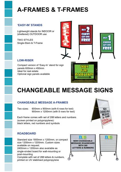 A-Frame, T-Frames & ChangeAble Message Signs