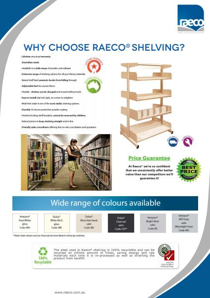 Why choose Raeco shelving?