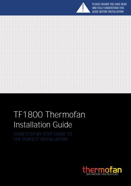 Thermofan 1800 installation guide