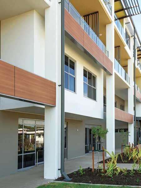 Exsulite-Kooltherm lightweight cladding system on Kerrisdale Gardens apartment block