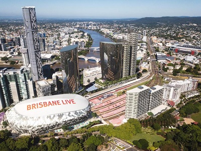 Conceptual design rendering of the Brisbane Live complex. Image: Supplied