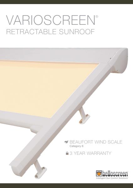 Varioscreen Retractable Sun Roof Brochure