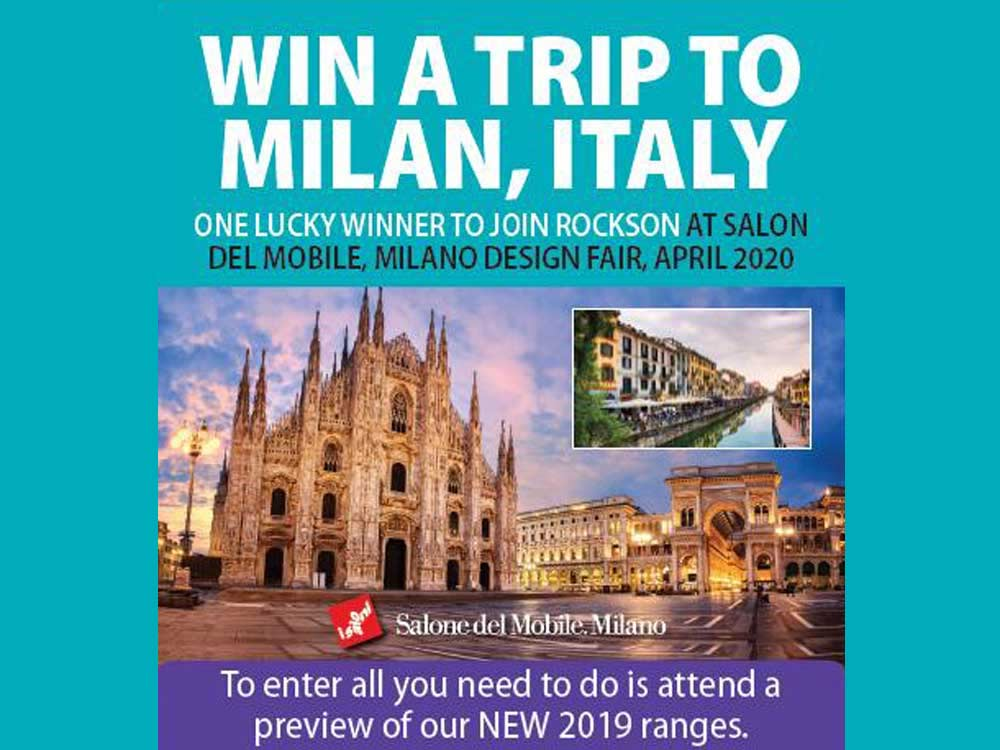 One lucky winner will join Rocks On at Salone Del Mobile