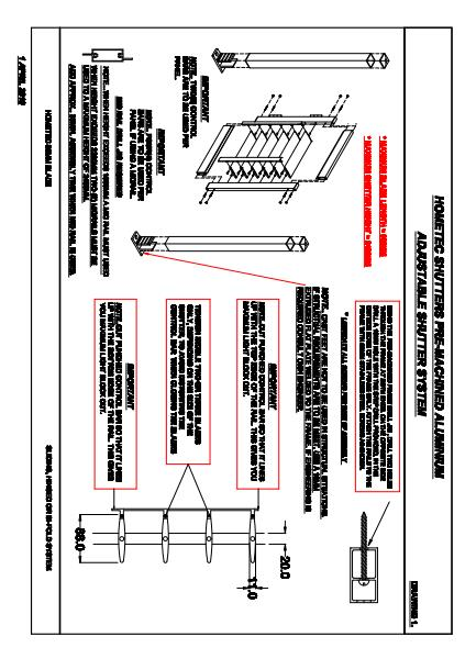 Hometec Catalogue Drawing Information