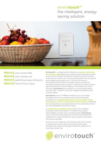 Envirotouch Brochure