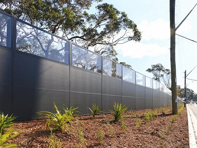 EnduroMax noise wall along Captain Cook Drive