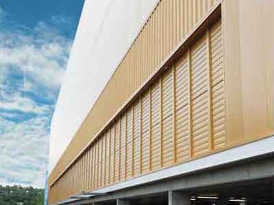 Gold Coast Sports and Leisure Centre featuring EBSA's louvres